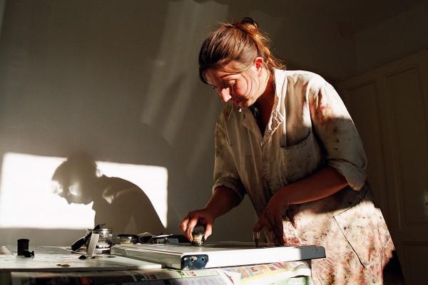 Valentina Šuljić u ateljeu