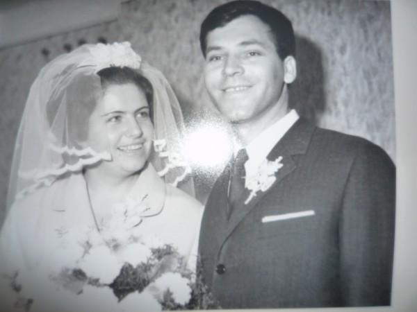 Ana i Grgo Jelinić, vjenčani 1968.