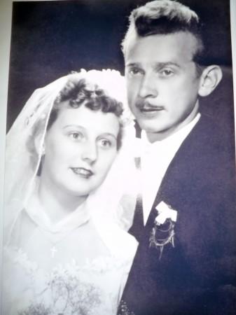 Zlata i Stjepan Vlašić, vjenčani 1957.