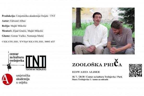 """Edward Albee. """"Zoološka priča"""", Umjetnička akademija Osijek, Teatar na Trešnjevci"""