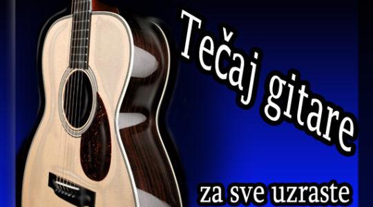Upisi u tijeku:  Tečaj gitare za djecu i odrasle od rujna 2013.