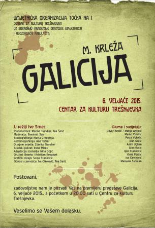 """Krleža: """"Galicija"""", redateljica Iva Srnec"""