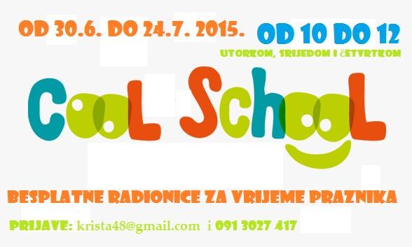 Cool School – besplatne radionice za vrijeme praznika