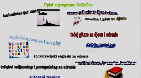 Upisi u programe CeKaTea do 30. rujna
