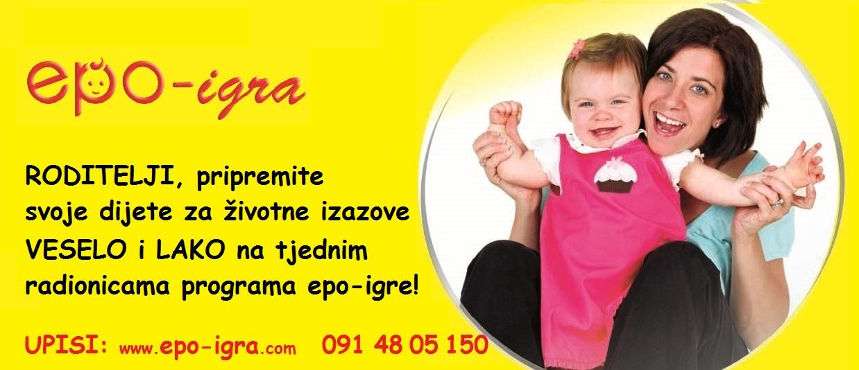 NOVA RADIONICA / UPISI u tijeku / Epo-igra za bebe