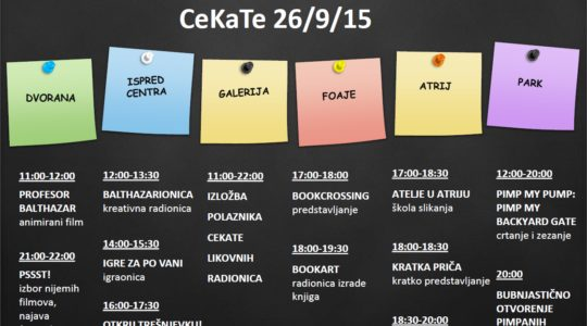 Dan otvorenih vrata CeKaTe-a: subota 26.9.