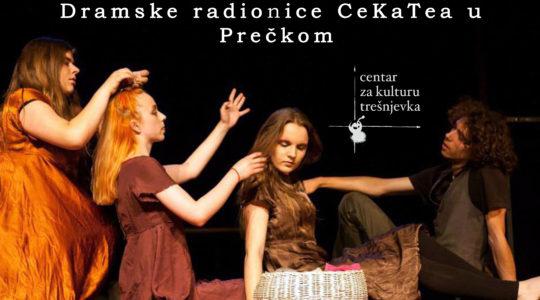 UPISI u Dramske radionice CeKaTea : / sutra ogledni sat besplatan /  19.00 / Dom kulture Prečko (Prečko 2a)
