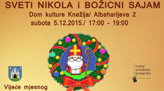 Božićni sajam i Sv. Nikola dolazi na Knežiju