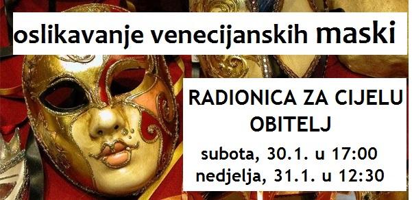 Radionica za cijelu obitelj / venecijanske maske