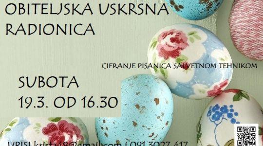 CIFRANJE PISANICA – obiteljska radionica 19.3. u 16.30