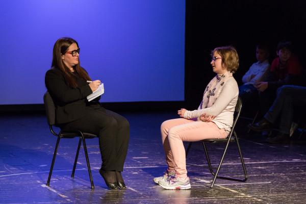 Edina Fajković (Psihologica) i Mia Gršković Šerka (Lea). Snimio Nikola Seljan