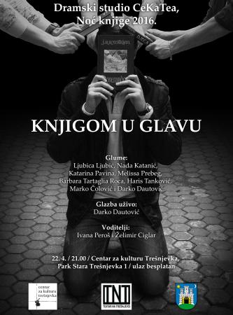 Dramski studio CeKaTea, Knjigom u glavu, plakat izradio Haris Tanković