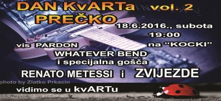 "Dan kvARTa Prečko vol. 2 rock koncert na ""KOCKI"""