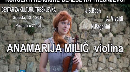 KONCERT: Violinistica Anamarija Milić / 13. 7. / 21.00 / ulaz besplatan