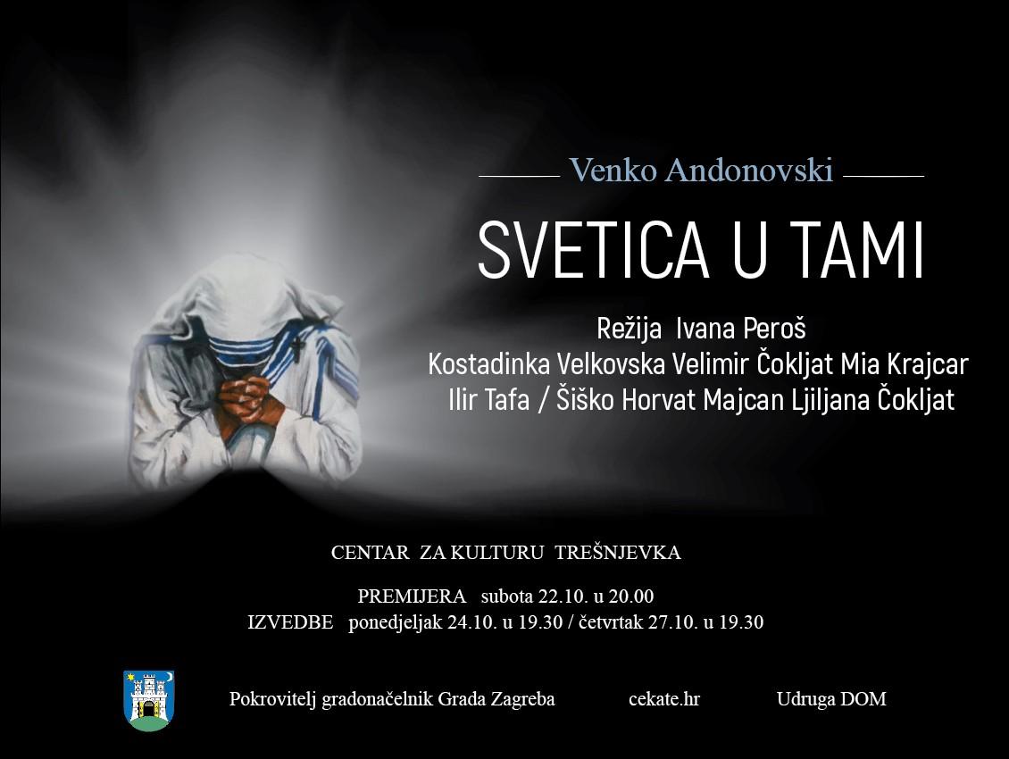 """Svetica u tami"" / predstava o Majci Terezi / 7. 3. / 20.00"