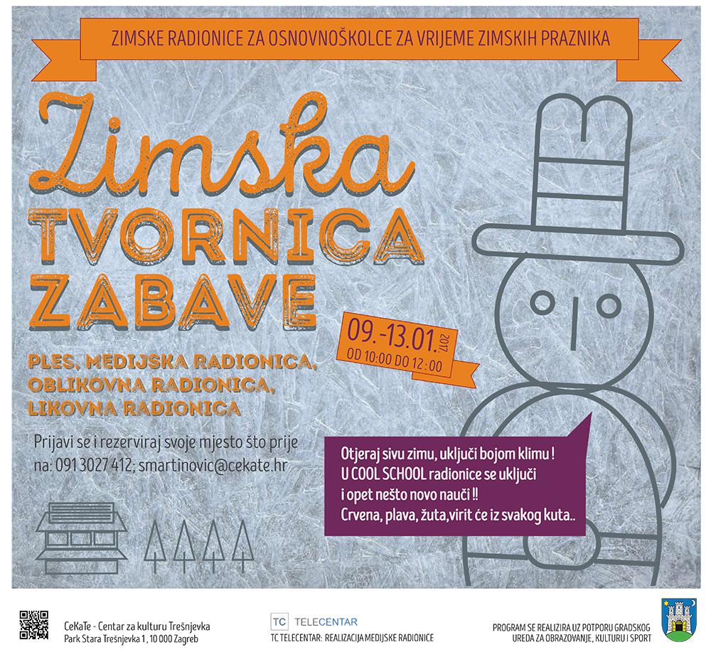 Zima na Trešnjevci/radionice za vrijeme zimskih praznika