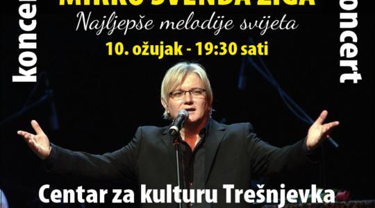 KONCERT: Mirko Švenda Žiga / Najljepše melodije svijeta / 10. 3. / 19.30