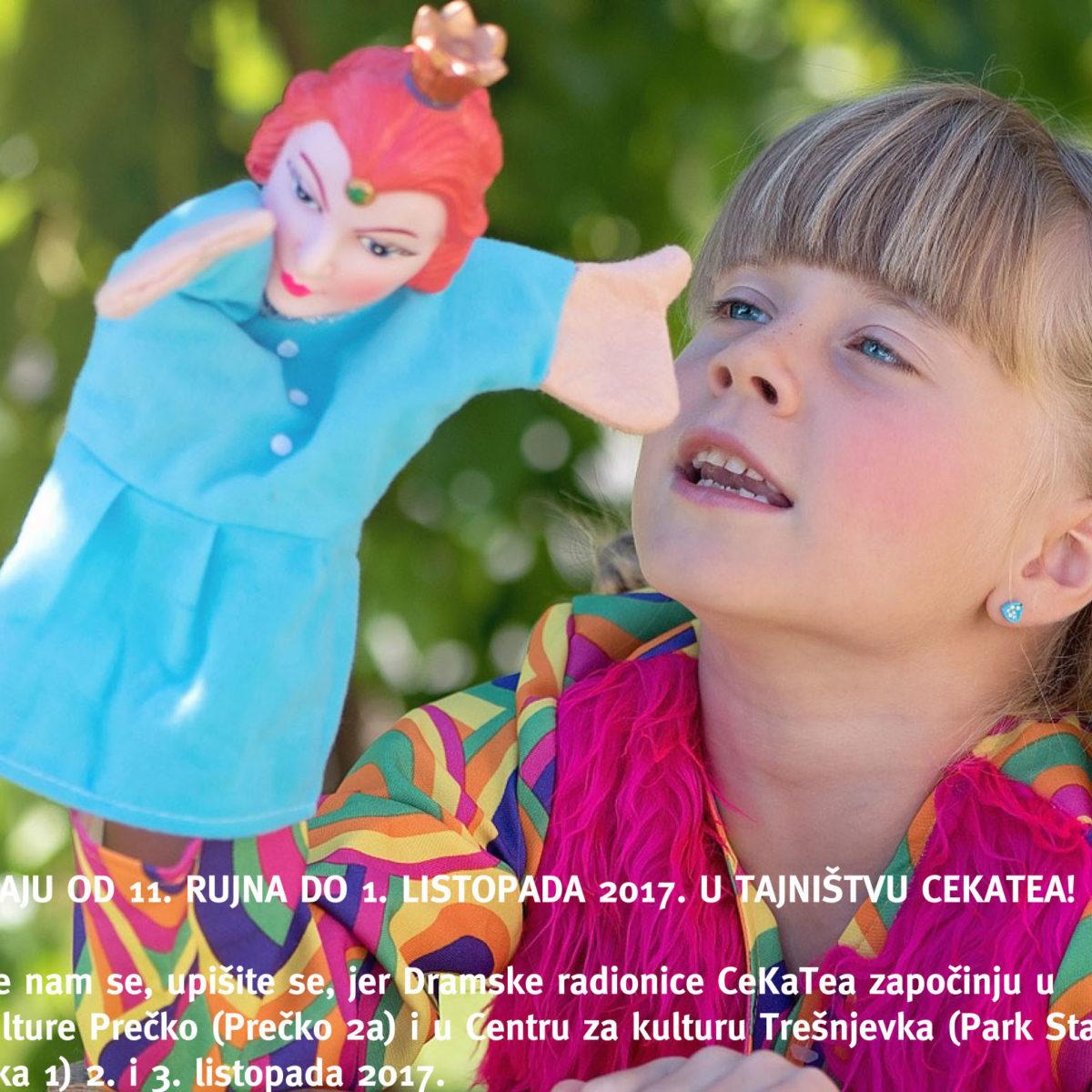 UPISI U LUTKARSKU RADIONICU CekaTea / radionice u Prečkom i Centru za kulturu Trešnjevka