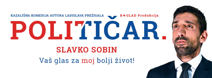 9. 2. / 19.30 / Komedija: POLITIČAR / glumi Slavko Sobin