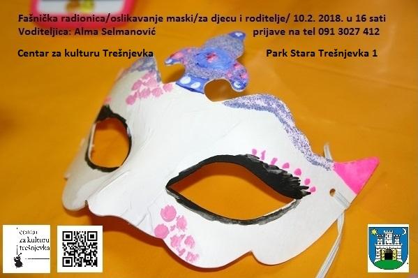 Fašnička radionica/oslikavanje maski