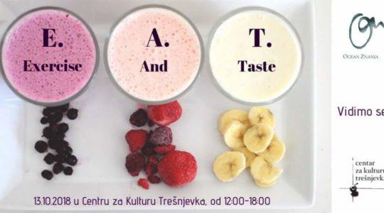 E.A.T Exercise And Eat – besplatan (i zabavan!) program tjelovježbe i zdrave prehrane u CeKaTe-u