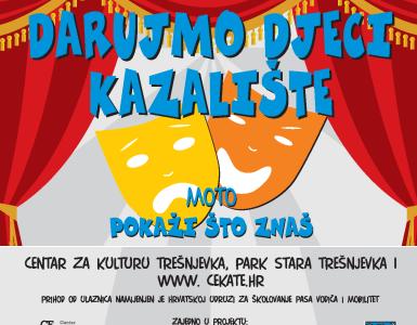 DARUJMO DJECI KAZALIŠTE 8.12. / 9:30 DV Trešnjevka / 11.00 DV Vjeverica / 12:30 DV Šegrt Hlapić