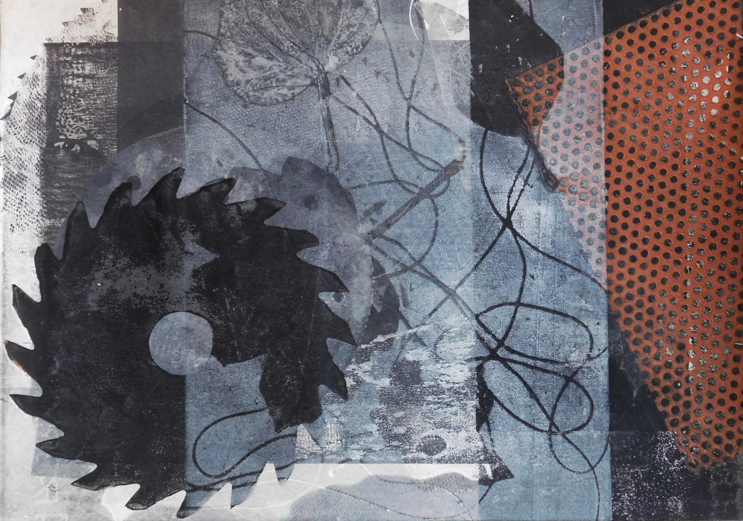 Maja Cipek: Nježno/oštro, izložba monotipija
