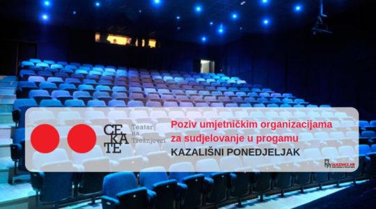 Poziv umjetničkim organizacijama za sudjelovanje u Kazališnom ponedjeljku