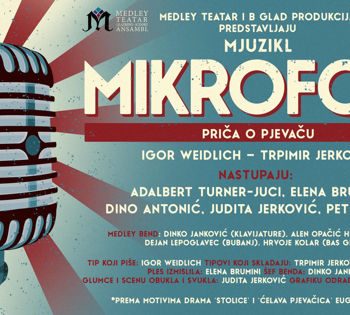 Mikrofoni. Novi mjuzikl Medley Teatra