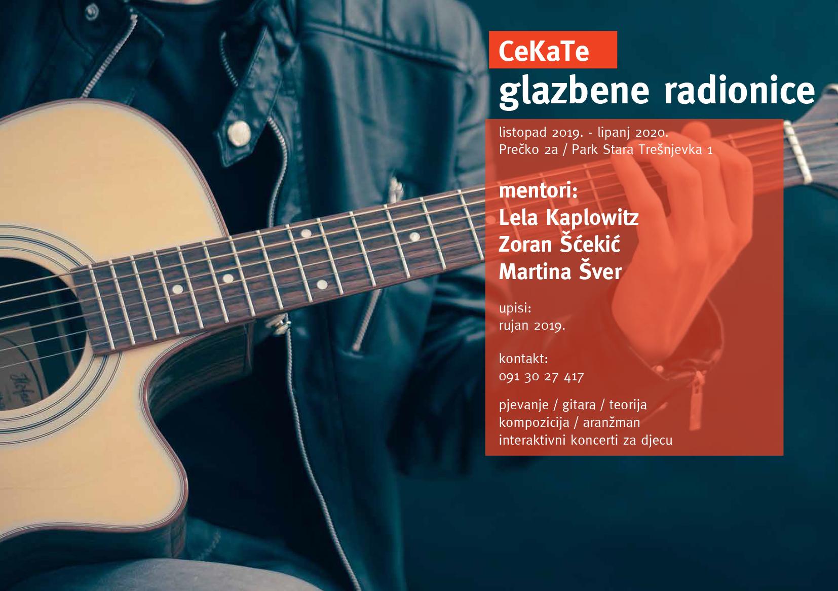 Upisi u glazbene radionice CeKaTe-a 2019./2020.