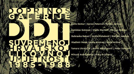 Doprinos galerije DDT hrvatskoj suvremenoj likovnoj umjetnosti