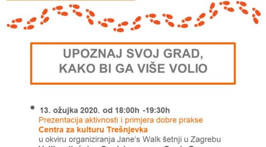 OTKAZANO – Jane's Walk Zagreb gostuje u Daruvaru