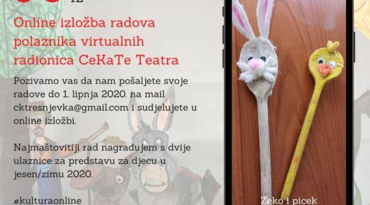 Online izložba radova polaznika virtualnih radionica CeKaTe Teatra