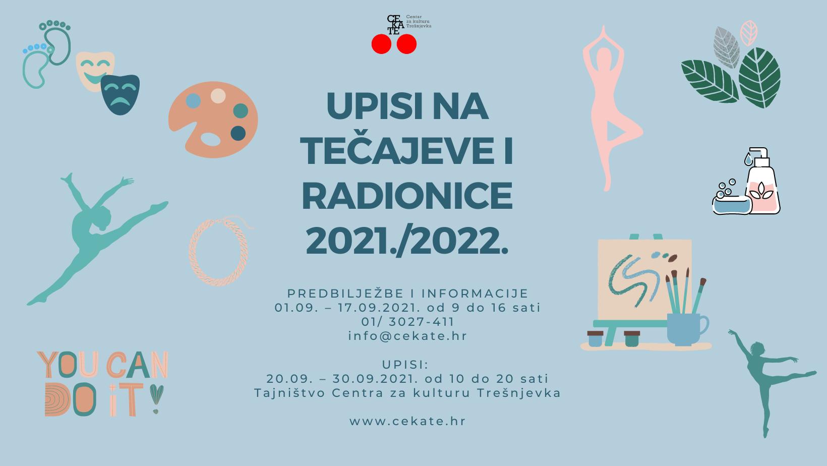 UPISI NA TEČAJEVE I RADIONICE 2021./2022.
