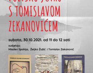 Poetsko jutro s Tomislavom Zekanovićem